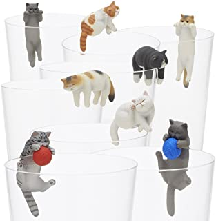 Kitan Club Putitto Exotic Shorthair Cat Cup Toy - Blind Box Includes 1 of 8 Collectable Figurines - Hangs on Thin, Flat Edges - Authentic Japanese Design - Made from Durable Plastic