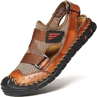 /étroite 201 Tailles 39-45 Avarca Sandales en Cuir v/éritable pour Hommes Made in Spain Confortables et Pratiques Chaussures d/écontract/ées de Plage ou des Pantoufles Belles Chaussures d/ét/é