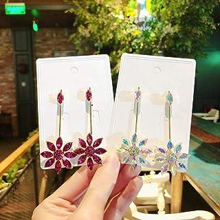 Erin Earring Ladies Elegante Cristallo Fiori Foglia Orecchini Pendenti Gioielli di Moda Accessori Lunghi Ciondolo Regali p...