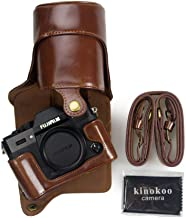 kinokoo Full Protection Bottom Openable Version Protective Leather Camera Case Bag with Tripod Design Compatible For Fujifilm T20 and X-T30 16-50mm  18-55mm Lens Shoulder Belt  Coffee