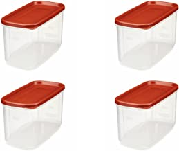 Rubbermaid 644766082445 10-Cup Dry Food Container (4-Pack), 1, Clear