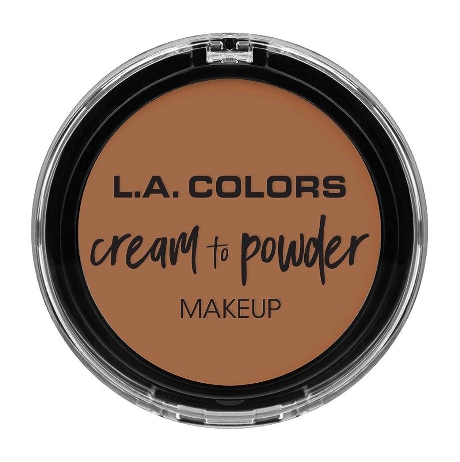 公平観光に行くショットL.A. COLORS Cream To Powder Foundation - Medium Beige (並行輸入品)