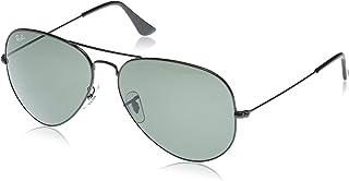 RB3026 Aviator Large Metal II Sunglasses, Black/Green, 62 Mm