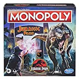 Hasbro Gaming Monopoly: Jurassic Park Edition Board Game for Kids Ages 8 and Up, Includes T. Rex Monopoly Token, Electronic Gate Plays SFX and Movie Theme