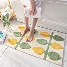 "Large Bath Rug Mats 32""x47"" Decorative Bathroom Rugs Absorbent Floor Foot Mat Shaggy Microfiber Geometric Pad Non Slip Sho..."
