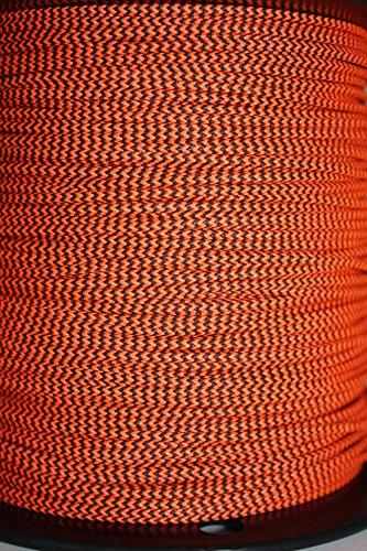 60X Custom Strings Flo Orange & Black Speckled BCY #24 D Loop Rope Release Material 10