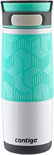 Sponsored Ad - Contigo AUTOSEAL Transit Stainless Steel Travel Mug, 16 oz, Polar White with Grayed Jade