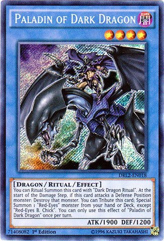 YU-GI-OH! - Paladin of Dark Dragon (DRL2-EN018) - Dragons of Legend 2 - 1st Edition - Secret Rare