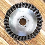 FairOnly - Cortador de alambre de acero para cortacésped (6/8 pulgadas, para quitar el polvo y eliminar malas hierbas, artículos creativos