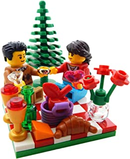 LEGO Valentine's Day Proposal Picnic - Ring, Flowers, Wine, More - Custom Engagement Minifigure Set
