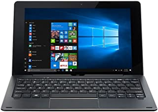 Nuvision 10.1 Inch IPS Touchscreen 2-in-1 Tablet PC Windows 10,Intel Atom Cherry Processor 1.84GHz, 32GB Storage and 2GB RAM with WiFi, Bluetooth and Camera, Includes Magnetic Keyboard