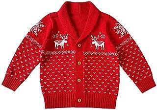 XUANOU Infant Baby Boys Girls Christmas Santa Xmas Letter Plaid Romper Jumpsuit