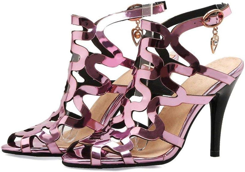 Cool Cool Cool kvinnor Sandals Peep Toe High klackar skor guld ljus Ankle Buckle mode Elegant Ladies Party Stiletto  grossist-