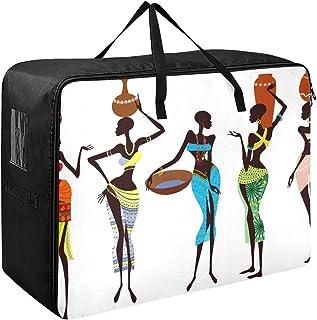 N\A Organisateur de Tissu Sac Belles Femmes africaines vêtements Organisateur 70 X 50 X 28 cm Couette Couvre-lit Oreiller ...