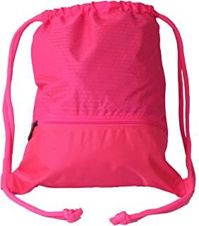 Double Sturdy Drawstring Bag With Pockets Waterproof Gym Sports Large  Backpack (Medium 5ecee9a5d0094