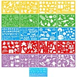 Nicpro 21 PCS Drawing Stencils for Kids, Art Stencils Set Over 300 Patterns Plastic Craft Templates to Draw Stories,DIY Work for Girl and Boy