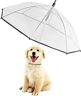 Morjava W555 Pet Dog Umbrella Leash Transparent Waterproof for Dog Walking