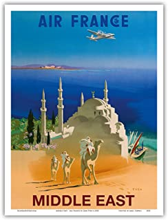 Paris 23cm X 31cm Master Art Print France Tour Eiffel Affiche Ancienne Vintage Companie a/érienne Poster Aviation de R/égis Manset c.1947