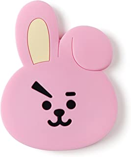 BT21 Official Merchandise by Line Friends - COOKY Character Silicon Hand Mirror, Pink