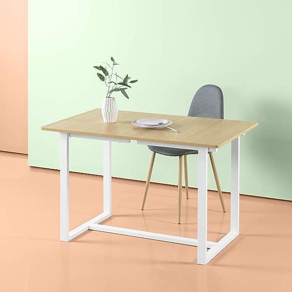Zinus Alto Rectangular Dining Office Desk Computer Table Quick Snap Bolt Nut Free Easy Assembly Award Winning Design Farmhouse