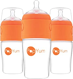 PopYum 9 oz Anti-Colic Formula Making / Mixing / Dispenser Baby Bottles, 3-Pack