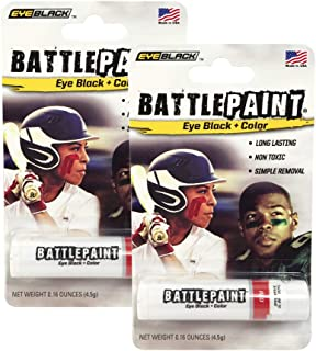 EyeBlack BattlePaint (2 Tubes) Grease in Color, Rich Vibrant Colors, Worn by The Pros