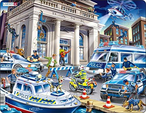 US32 Policía atrapando a los Ladrones de Bancos, edición en Neutral, Puzzle de Marco con 43 Piezas