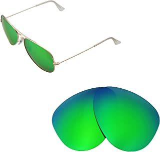 Walleva Replacement Lenses for Ray-Ban Aviator Large Metal RB3025 58mm Sunglasses - Multiple Options