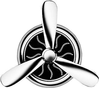 YOKELLMUX 車 芳香剤 アロマディフューザー 空気清浄機 消臭 異臭を取り除く PEフレグランスタブレット クリップ式 4枚アロマパッド付き 空軍Ⅰ号 シルバー