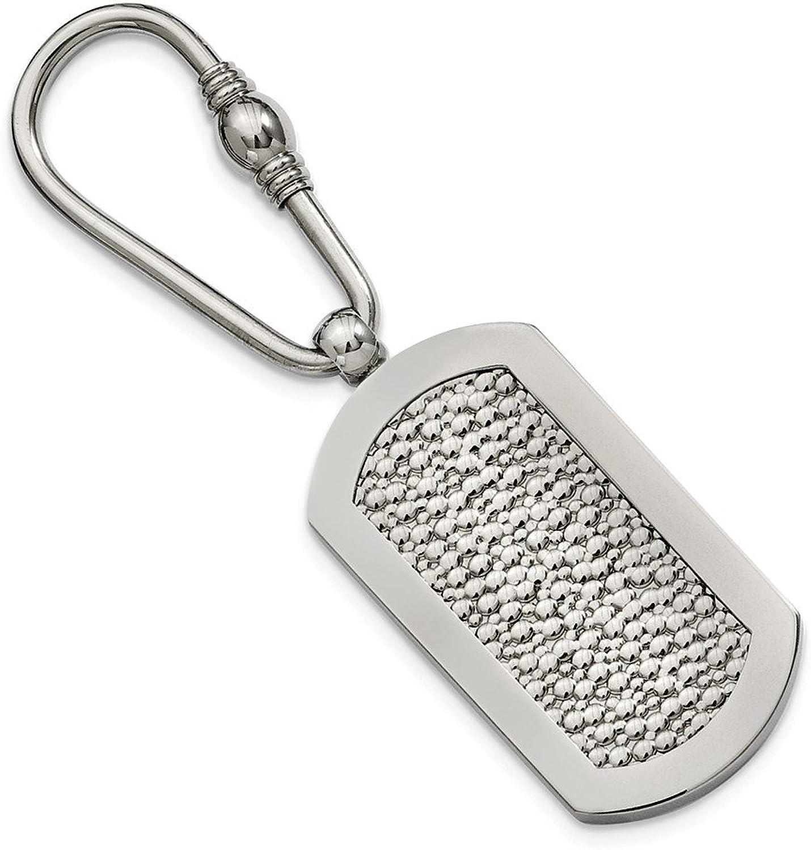 Beautiful Titanium Pebble Textured Key Ring