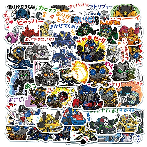 SHUYE Transformers Emoji Pack Cute Stickers Laptop Car Trunk Casco Pegatinas Impermeables 50 Hojas