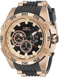 Men's Speedway Quartz Watch with Stainless Steel Strap, Black, 26 (Model: 30109)