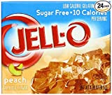 JELLO Peach Peach Gelatin Dessert Mix (0.30oz Boxes, Pack of 24)