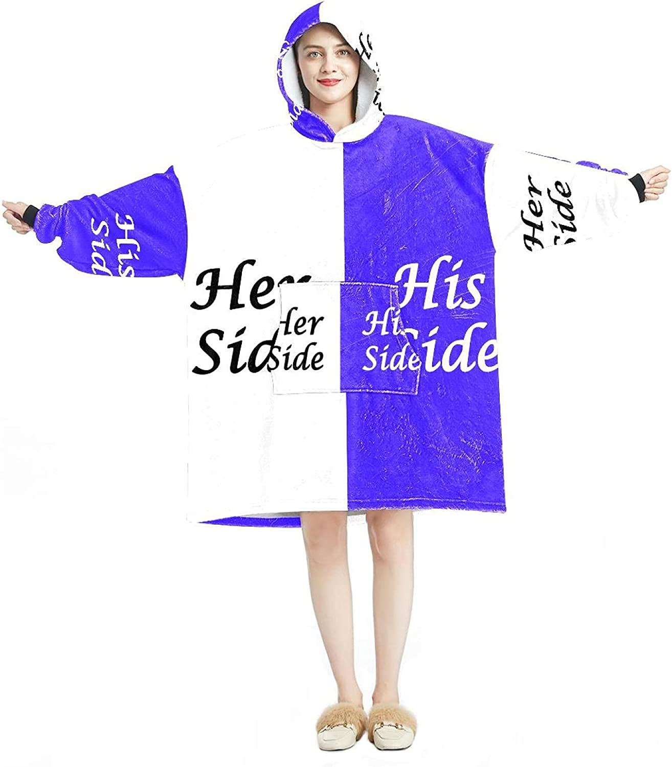 Oversized Hooded Blanket Sweatshirt Her White His Side Cash special price 2021 new and
