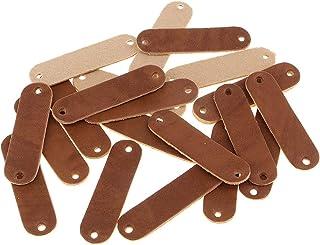 Baosity 20 etiquetas de couro de poliuretano para costurar etiquetas com furos gravados etiqueta acessórios