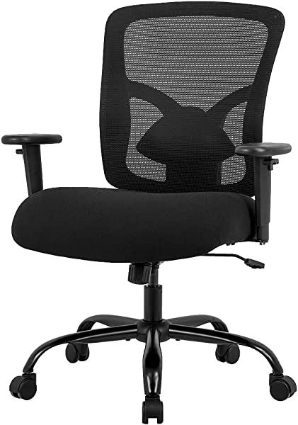 Big And Tall Office Chair Mesh Chair Computer Ergonomic Chair 400lbs Wide Seat Executive Desk Task Rolling Swivel Chair With Lumbar Support Adjustable Arms