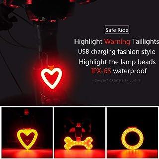 tamaño Heart Shape Color As Picture Show Resistente al Agua COB LED Asiento Trasero en Forma de corazón Seguridad Advertencia Bicicleta luz Trasera IP63 Luz de Bicicleta ultrabrillante