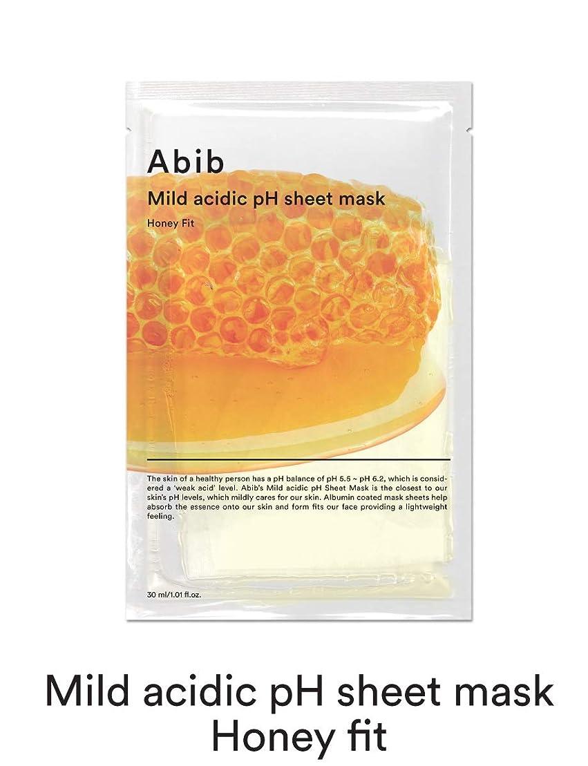 二層拍車平等[Abib] アビブ弱酸性pHシートマスクハニーフィット 30mlx10枚 / ABIB MILD ACIDIC pH SHEET MASK HONEY FIT 30mlx10EA [並行輸入品]