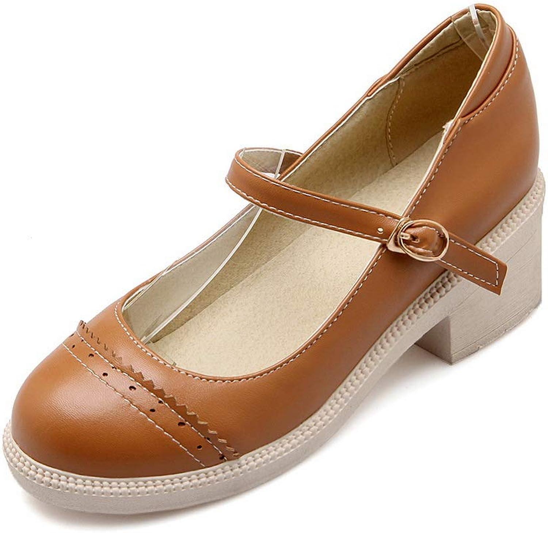 BalaMasa Womens Structured Solid Herringbone Urethane Pumps shoes APL10401