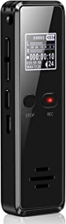 QZT ボイスレコーダー ICレコーダー 8GB 録音機 超小型 大容量 高音質 長時間録音 569時間録音保存 簡単操作 定時録音 (ブラック)