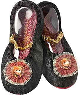 Princess Frozen Anna Toddler Slipper Shoes Black, Gold