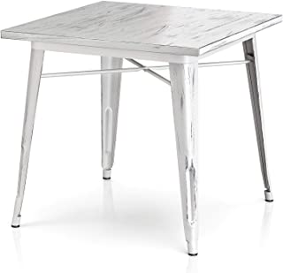 VIPEK 29.5 Inches Height Metal Dining Table 31.4