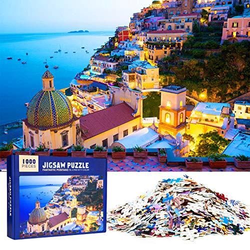 MOOKLIN ROAM Puzzle 1000 Piezas Positano, Puzzles Souvenir Regalo para Adolescentes y Adultos
