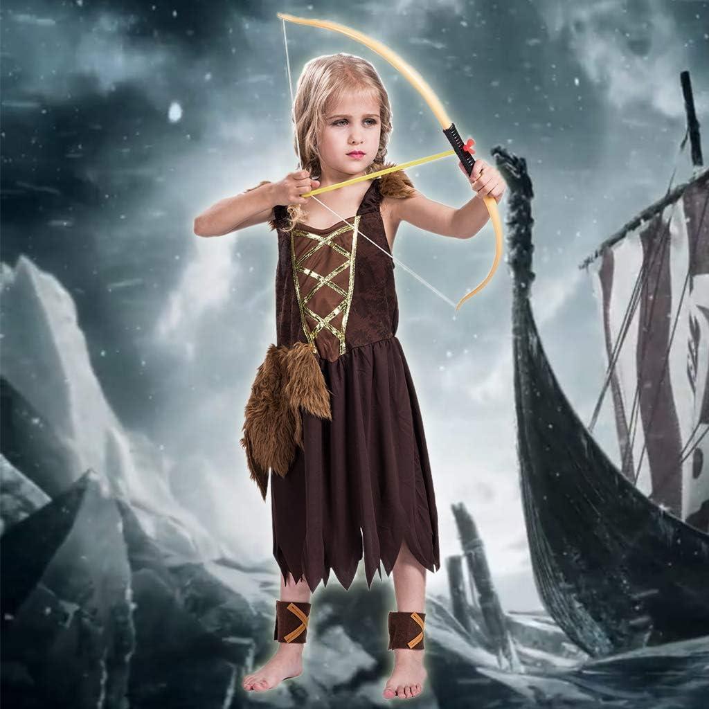ReneeCho Girl/'s Viking Barbarian Halloween Costume Warrior Dress Savage