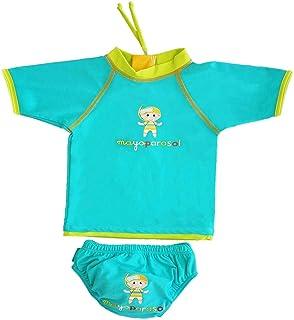 63ae5a7a9ffa9 MayoParasol - Caraïbi Ensemble T Shirt Anti UV bébé et Maillot Couche