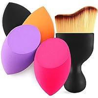 Beakey 4+1Pcs Makeup Sponges with Contour Brush