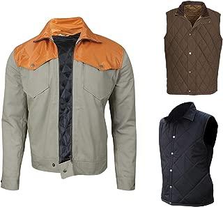 Mens Dutton Cowboy Old West Yellow Stone Kevin Cotton Jacket