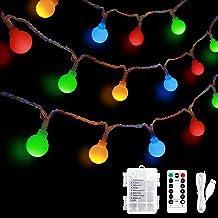 Sferische String Lights USB, 36ft 60 LED-sprookje Stringlampen, 8 modi Geschikt voor binnen en buiten, feest, Kerstmis, Ha...