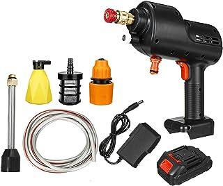 ماكينة غسيل سيارات لاسلكية 12 فولت عالية الضغط ماكينة رش مياه أوتوماتيكية قوية لغسيل السيارات مع بطارية