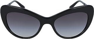 DOLCE & GABBANA Women's 0DG4307B 25258G Sunglasses, Black/Gradient, 52